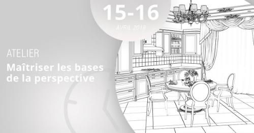 Apprenez à maîtriser les bases de la perspective grâce à notre atelier, les 15 et 16 avril 2019.