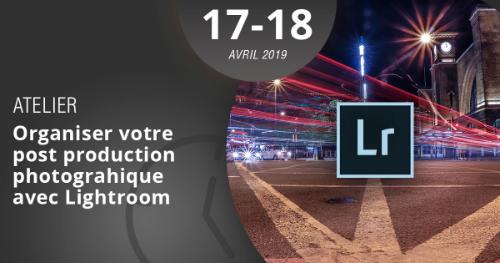 Apprenez à organiser votre post production photographique à l'aide du logiciel Lightroom grâce à notre atelier, les 17 et 18 avril 2019.