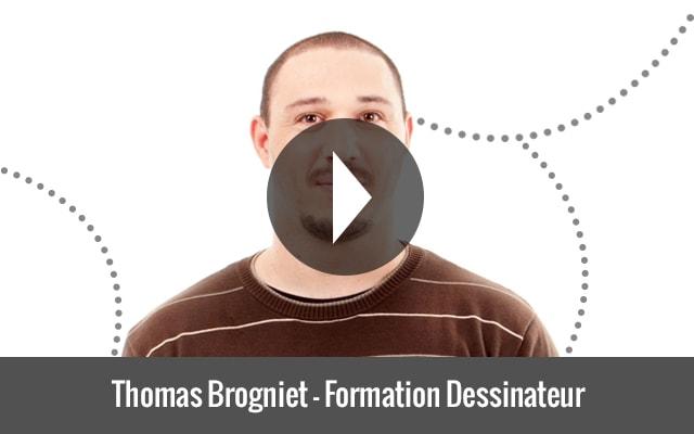 Thomas Brogniet - Elève devenu Dessinateur