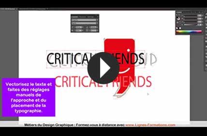 video tutoturiel créer logo sur illustrator