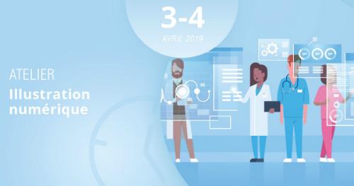 Découvrez les différentes techniques de l'illustration numérique en vous inscrivant à notre atelier, les 3 et 4 avril 2019 !
