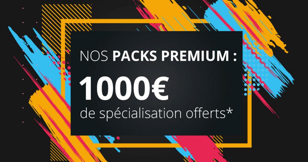 Ce mois-ci, profitez de notre offre pack premium sur un ensemble de formations