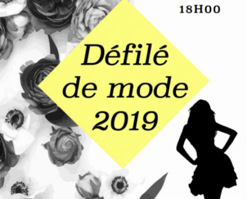 Découvrez les propositions d'affiches pour le défilé 2019 d'Elisa Clavel, élève en formation graphiste chez Lignes et Formations