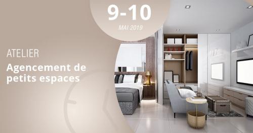 Assistez à notre atelier Agencement de petits espaces les 9 et 10 mai 2019 et apprenez comment aménager une surface réduite grâce aux conseils de vos formateurs Lignes et Formations.