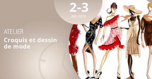 Grâce à notre atelier Croquis et dessin de mode les 2 et 3 mai 2019, le dessin de mode n'aura plus de secrets pour vous !