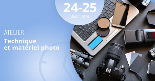 Grâce à notre atelier des 24 et 25 avril 2019, la technique et le matériel photo n'auront plus de secrets pour vous.