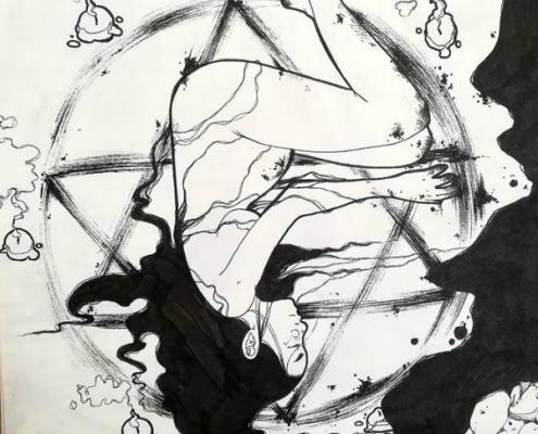 Découvrez les travaux d'Emeline Villa, élève de la formation Graphiste de Lignes et Formations, sélectionnée pour l'atelier graphisme du défilé Skill and You 2019